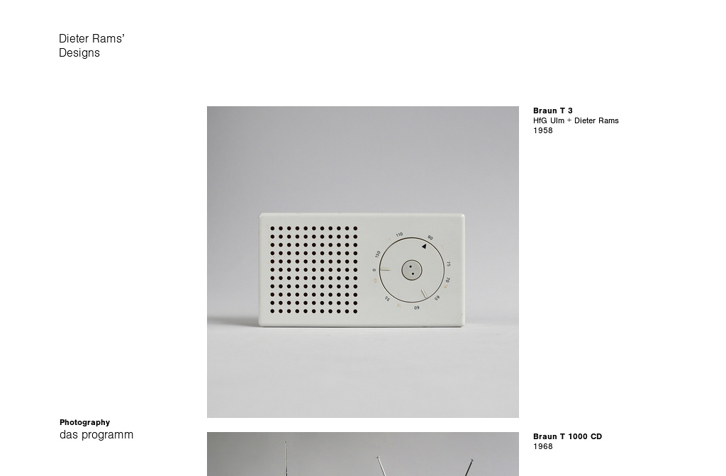 Products From Dieter Rams Ten Principles For Good