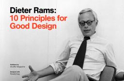 Dieter Rams dieter rams ten principles for design by shuffle readymag