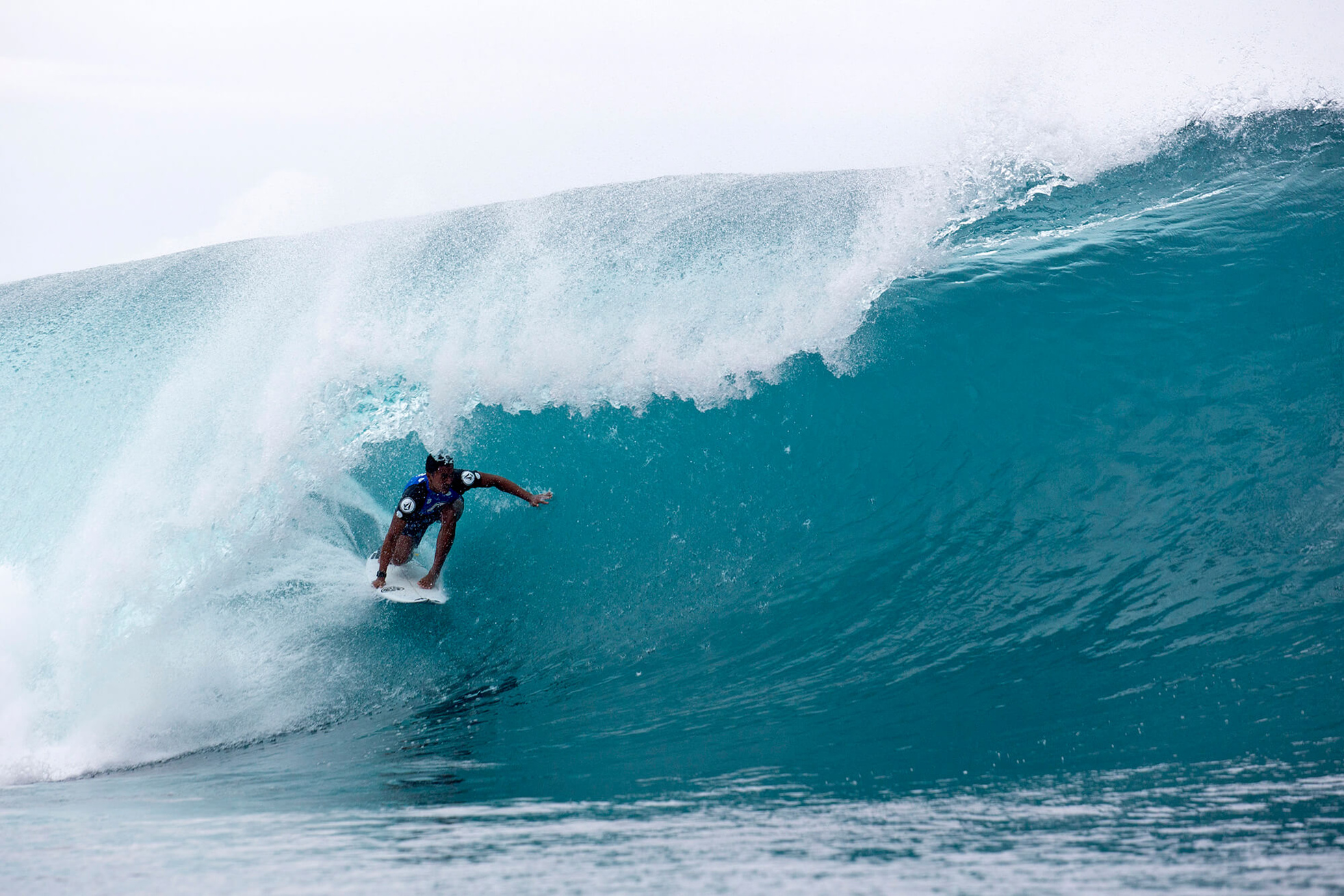 """A hundred percent, this is the best win of my professional career,"" Moniz said. ""The only win that will get better is a Pipe Masters, so hopefully down the line I can do one of those."" Photo: Keoki/WSL Volcom Pro 2018"