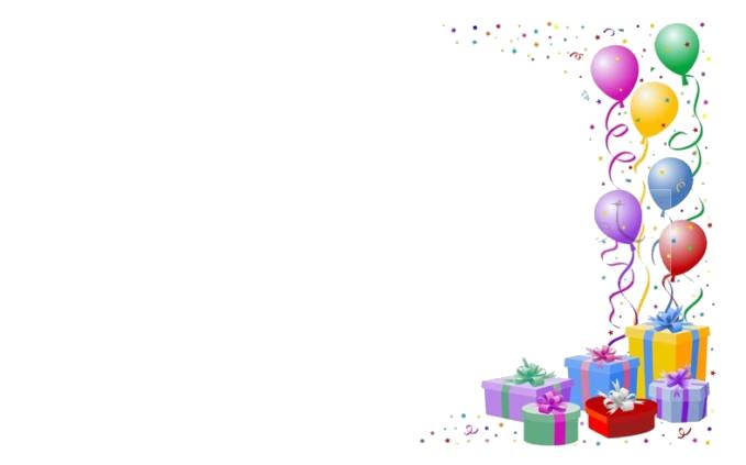 Клипарт фон для поздравления с днем рождения