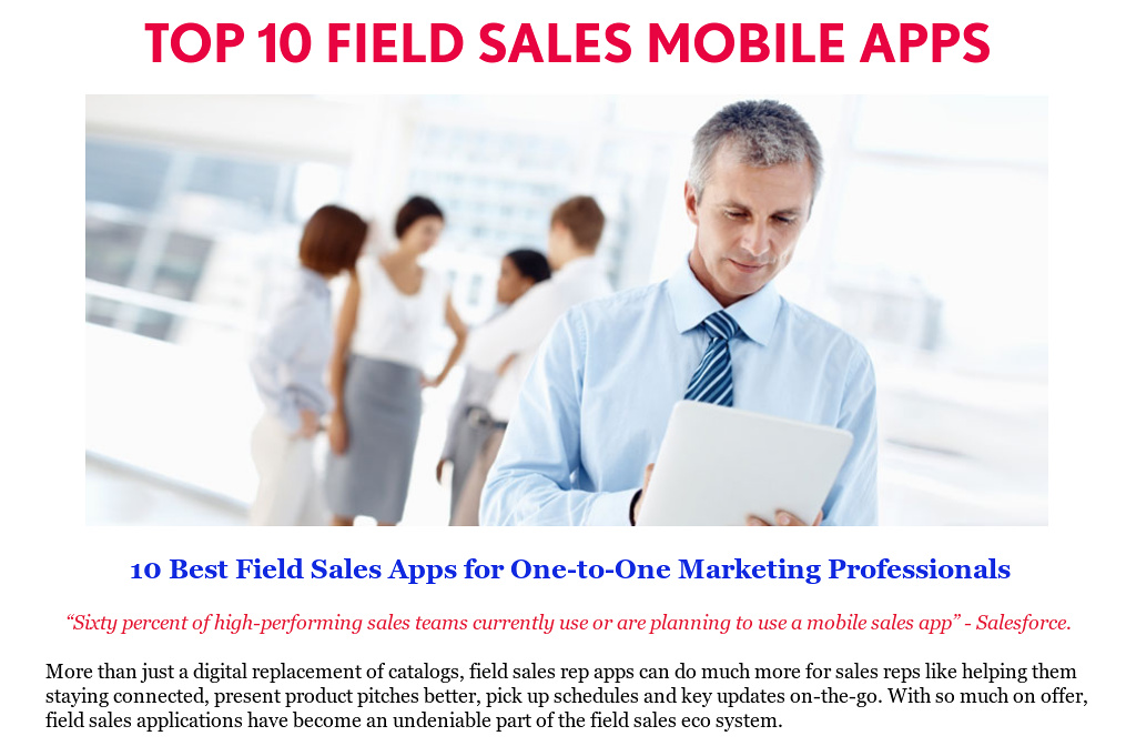 Top 10 Field Sales Software For Ipad Amp Android By