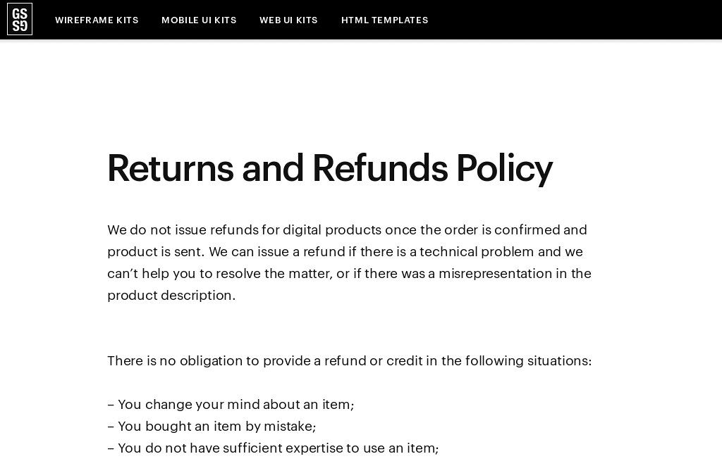 No Refund Policy Template - Eliolera.com