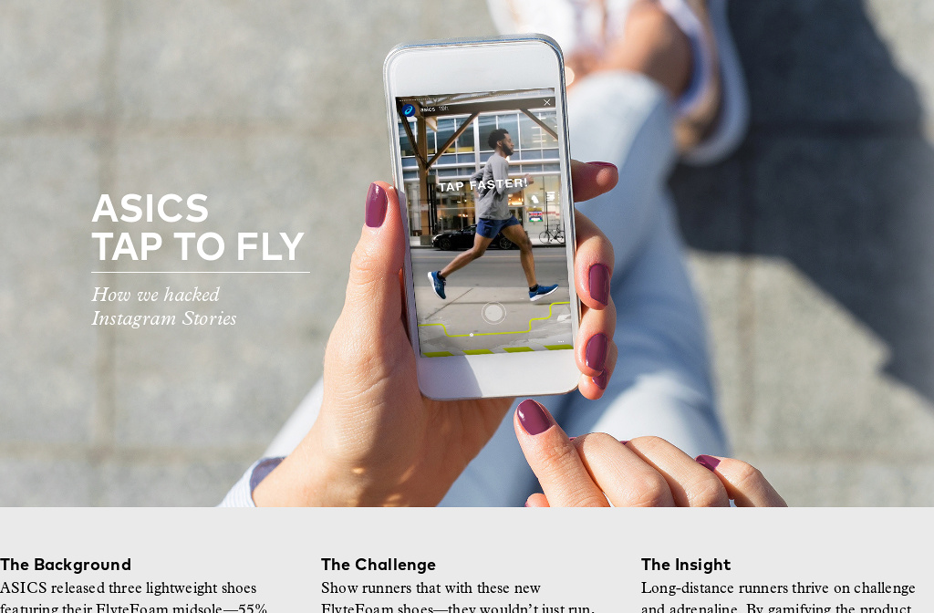ASICS Tap to Fly Case Study