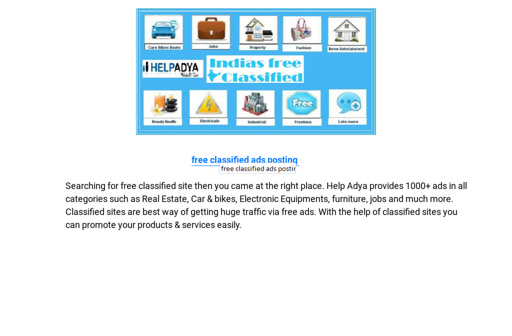 For Classified Ads Jobs Free Place